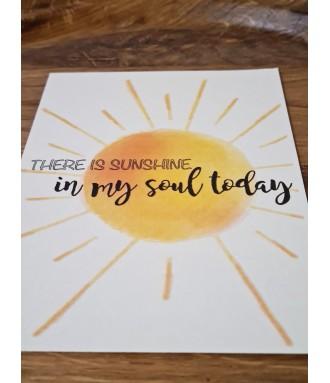 Positive card - sunshine